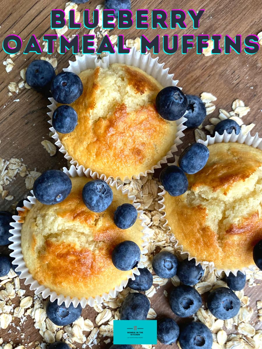 Blueberry Oatmeal Muffins. Delicious, simple, soft and fluffy oatmeal muffins bursting with juicy blueberries. Serve warm for breakfast or have as a nice snack