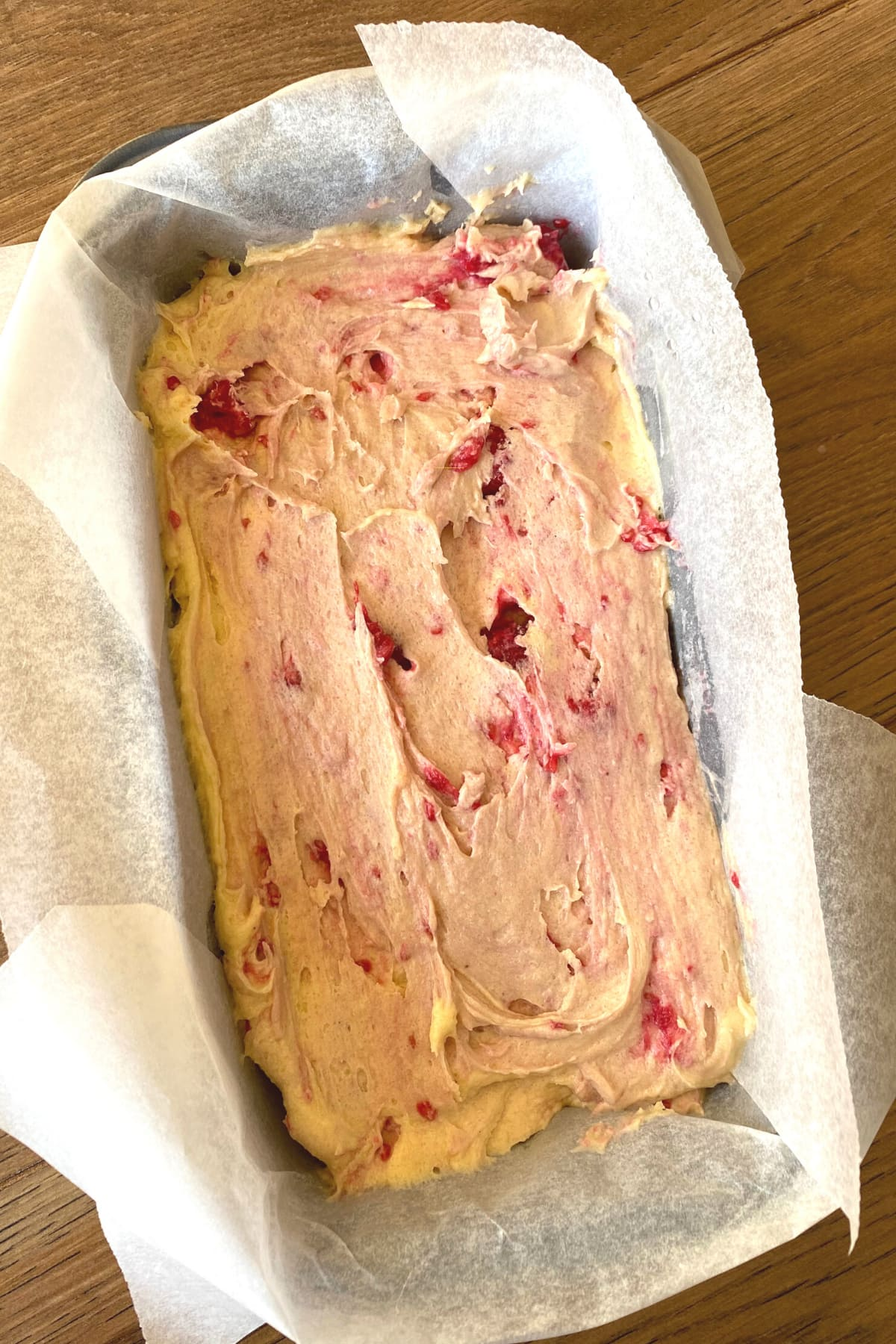 Cake ready for the oven