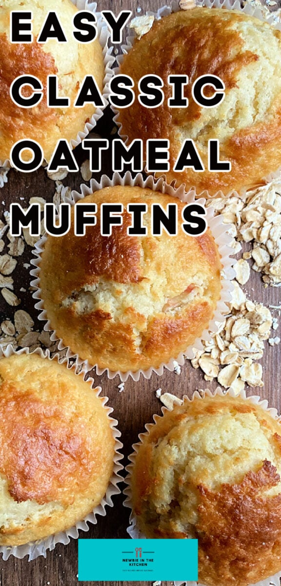 Easy Classic Oatmeal Muffins. Delicious, simple, wholesome muffins, slightly sweet with a nutty flavor from the oats. Best served warm as a side to a meal or breakfast.