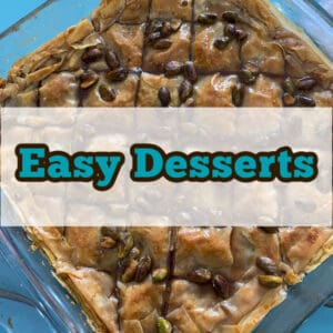 A selection of delicious easy desserts you can make at home