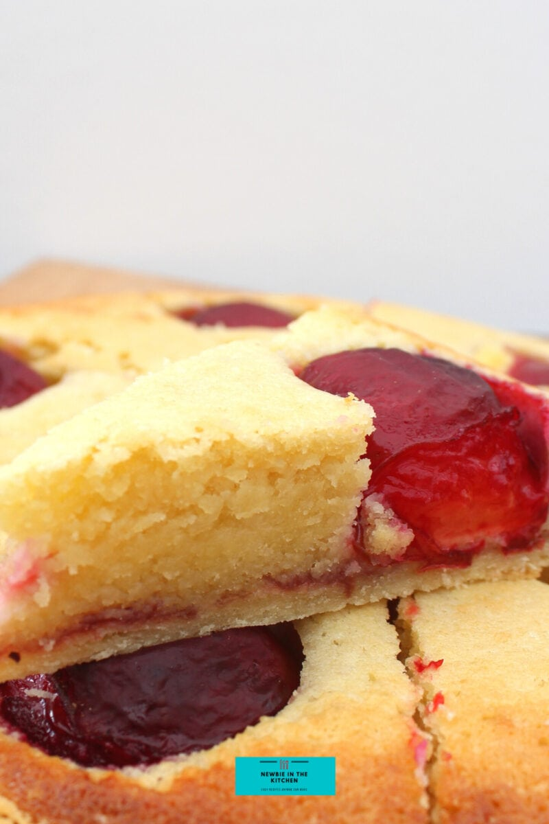 Easy Plum Frangipane. A delicious almond cake bursting with juicy plums in a sweet pastry case. Delicious served warm or chilled for dessert or Afternoon Tea.