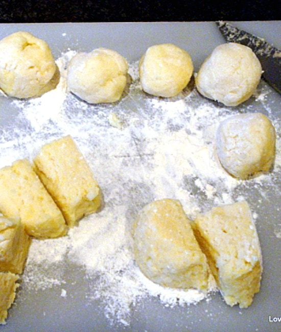 Bacon and Cheese Potato Croquettes, shaping