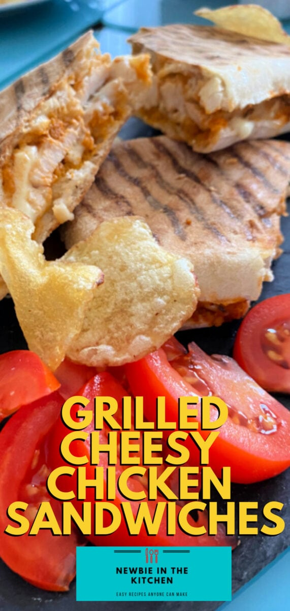 Grilled Cheesy Chicken Sandwiches, Filled With Melting Cheese, Using Leftover Cooked Chicken. Serve Warm For Lunch Or Supper.