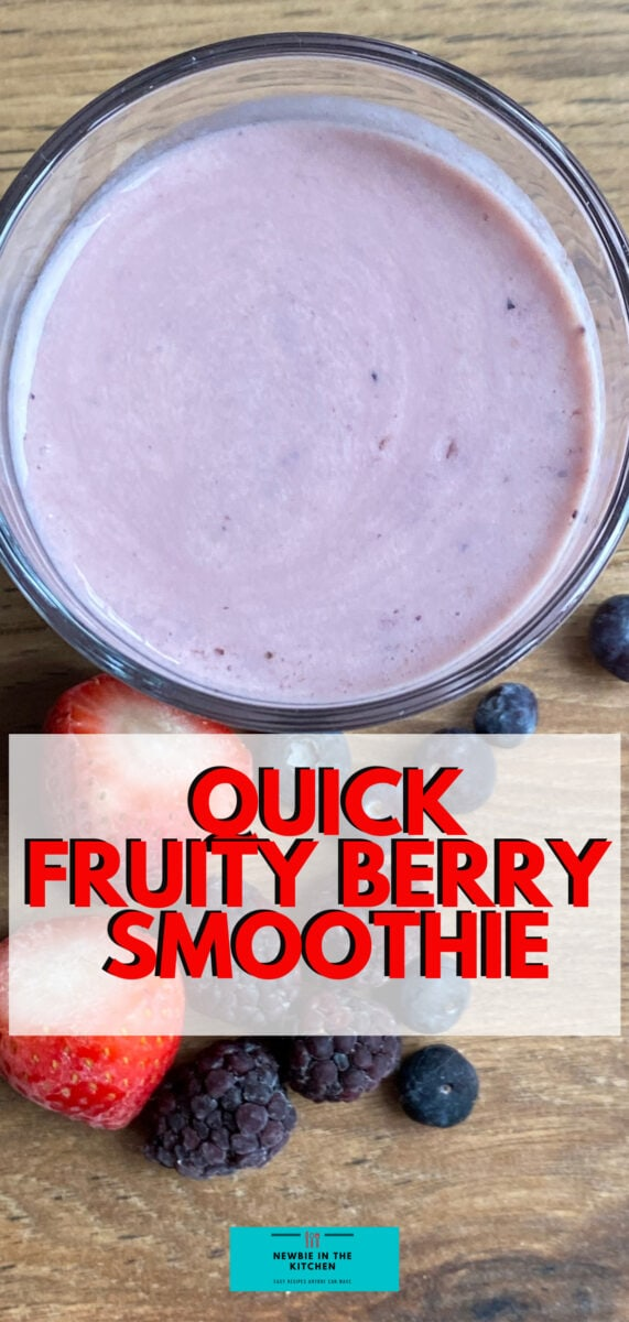 Quick Fruity Berry Smoothie. A delicious creamy smoothie bursting with juicy berries, ready in under 5 minutes