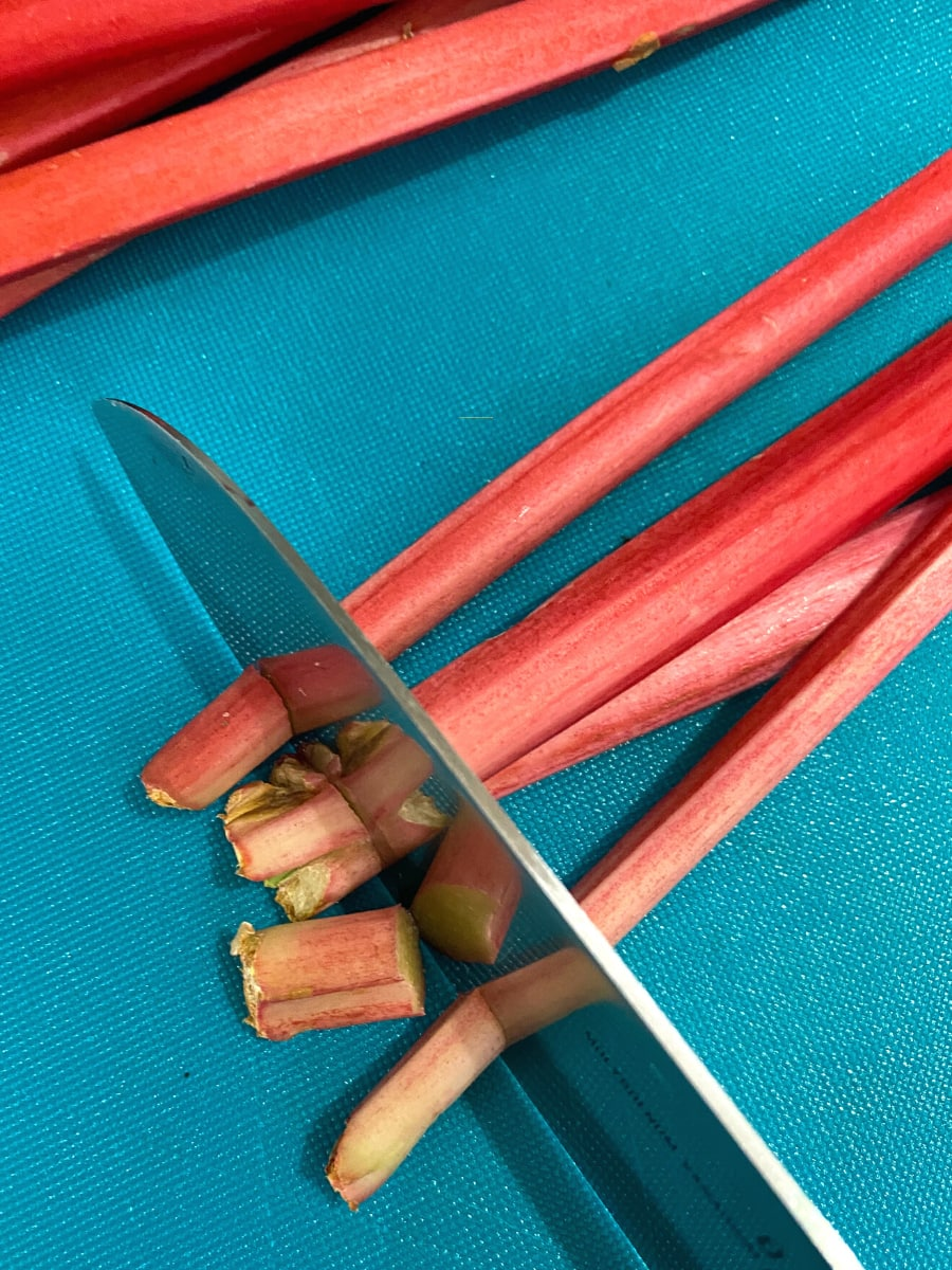 Top and Tail rhubarb