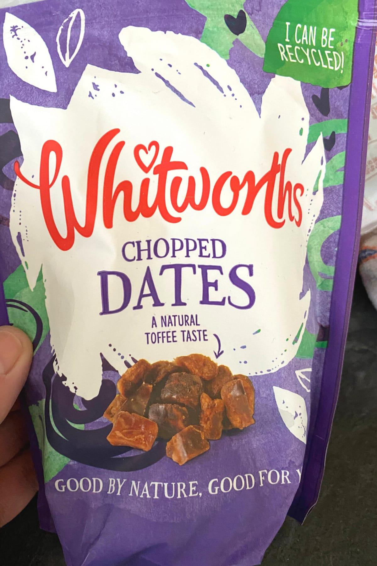 Chopped dates ingredients