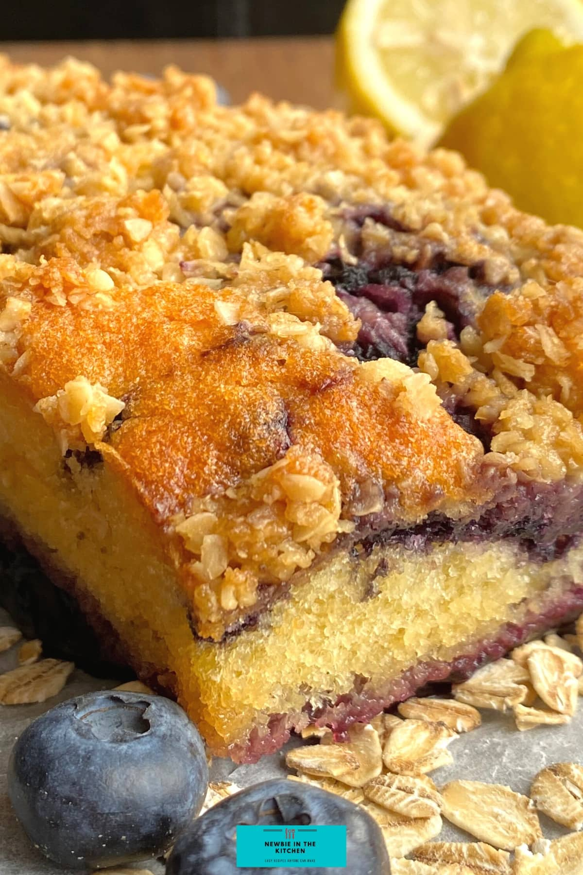 Easy Blueberry and Lemon Crumble Cake. Deliciously soft & moist cake packed with blueberries & a hint of lemon. Topped with a crumble topping. Easiest simple cake recipe ever!