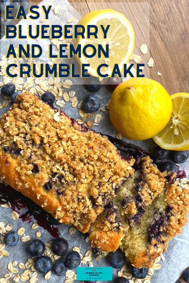 Easy Blueberry and Lemon Crumble CakeH