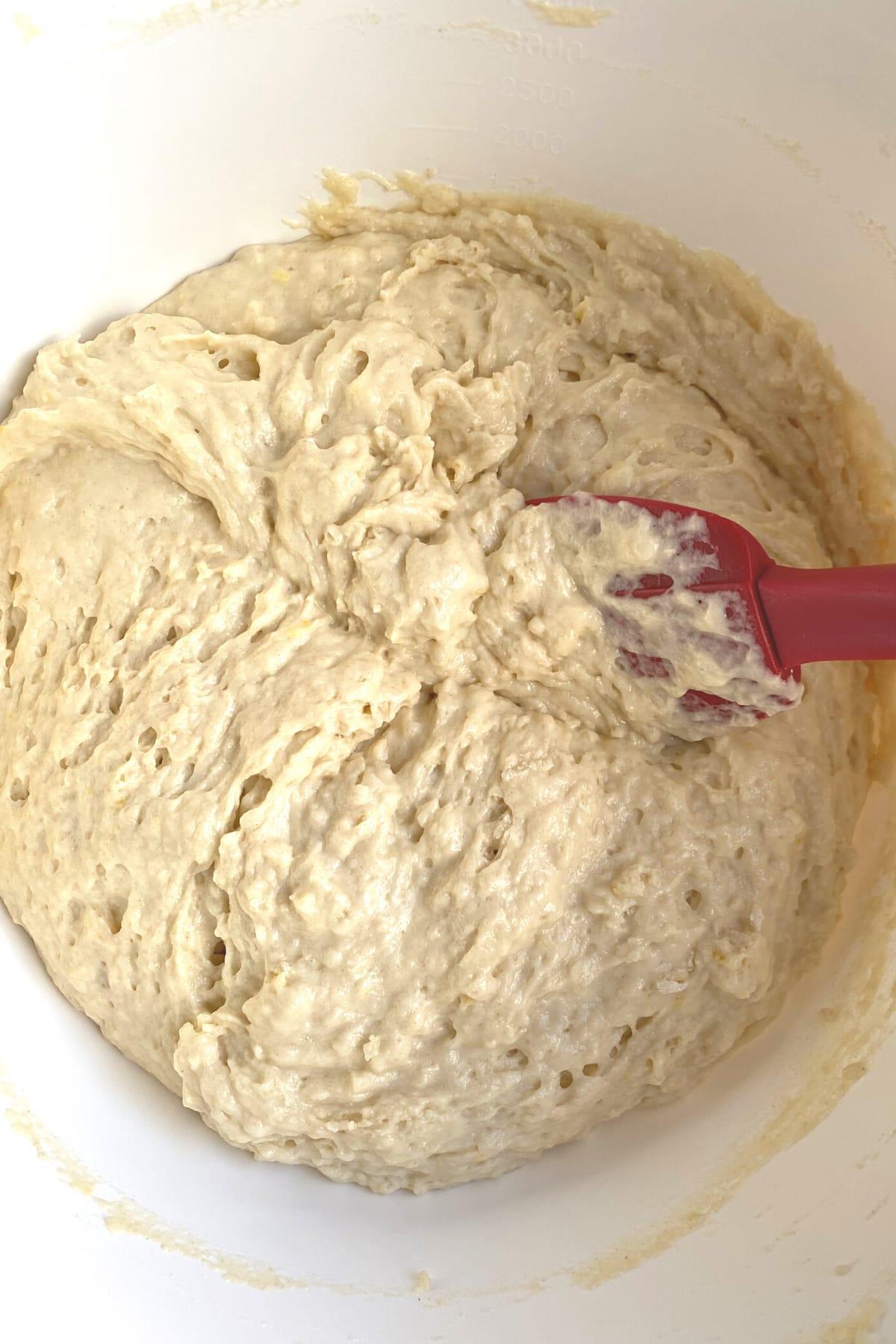 Easy Lemon French Yogurt Cake , batter prepared