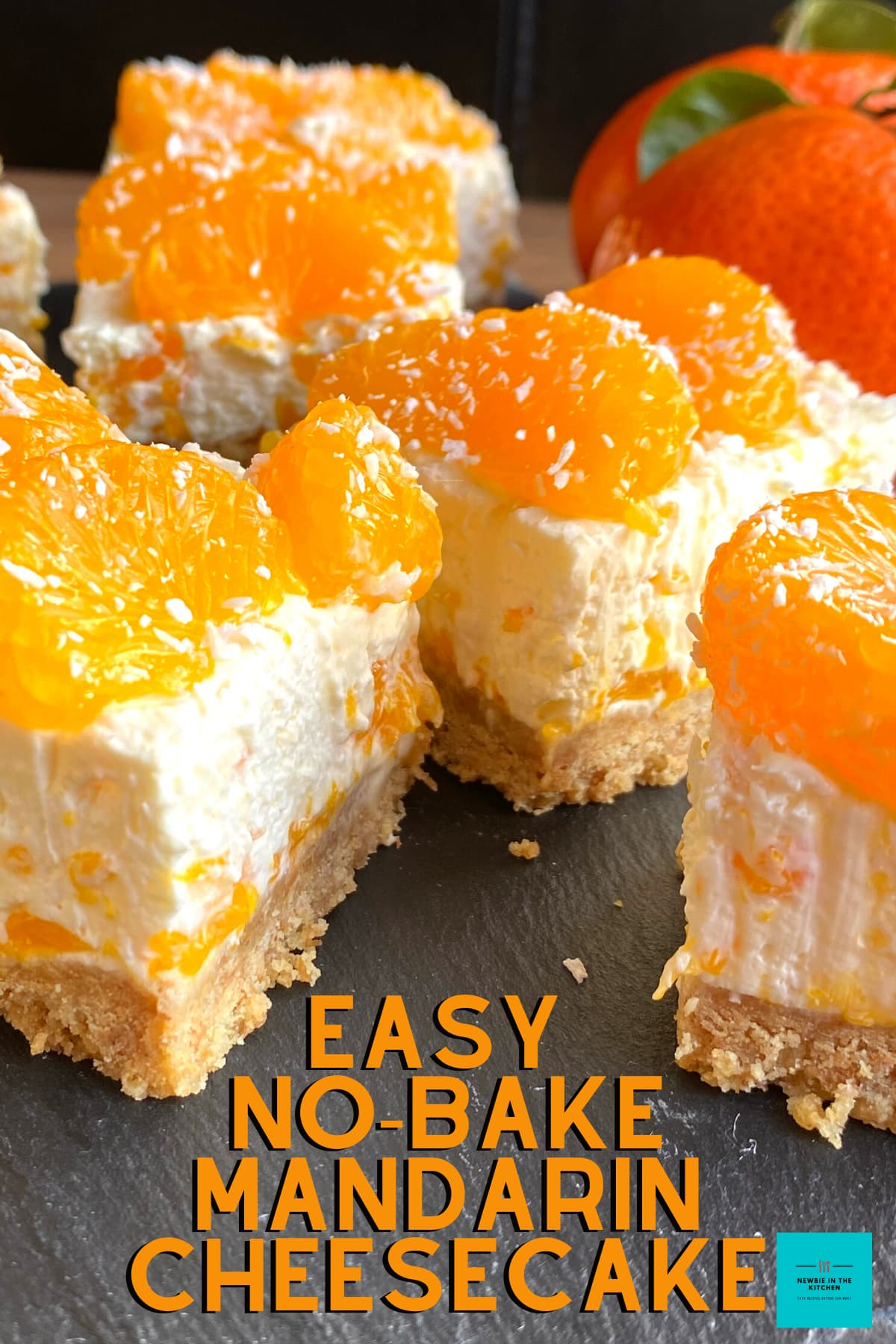 Easy No-Bake Mandarin Cheesecake. A delicious No Bake Dessert, bursting with juicy mandarins in every bite. Easy to make, simple recipe with regular ingredients