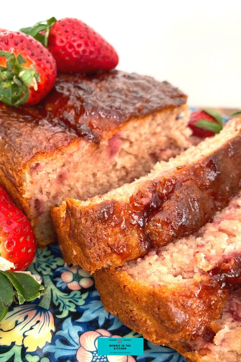 Easy Strawberry French Yogurt Cake. Delicious juicy strawberries, soft and moist, incredibly easy made from scratch cake recipe, great as a tea time snack