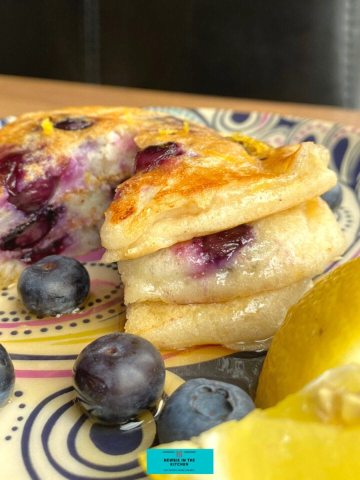 Fluffy Blueberry and Lemon PancakesF
