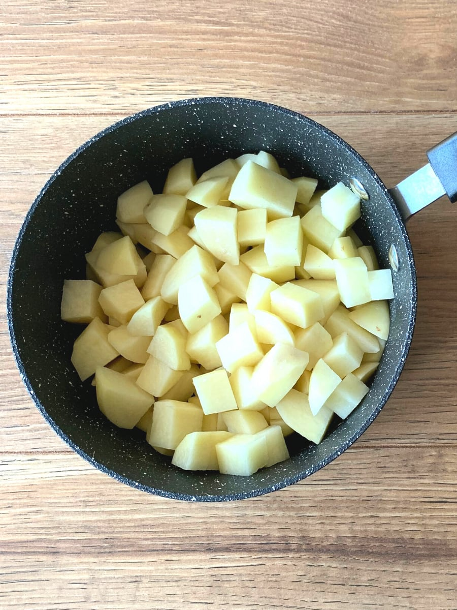 Potatoes in saucepan