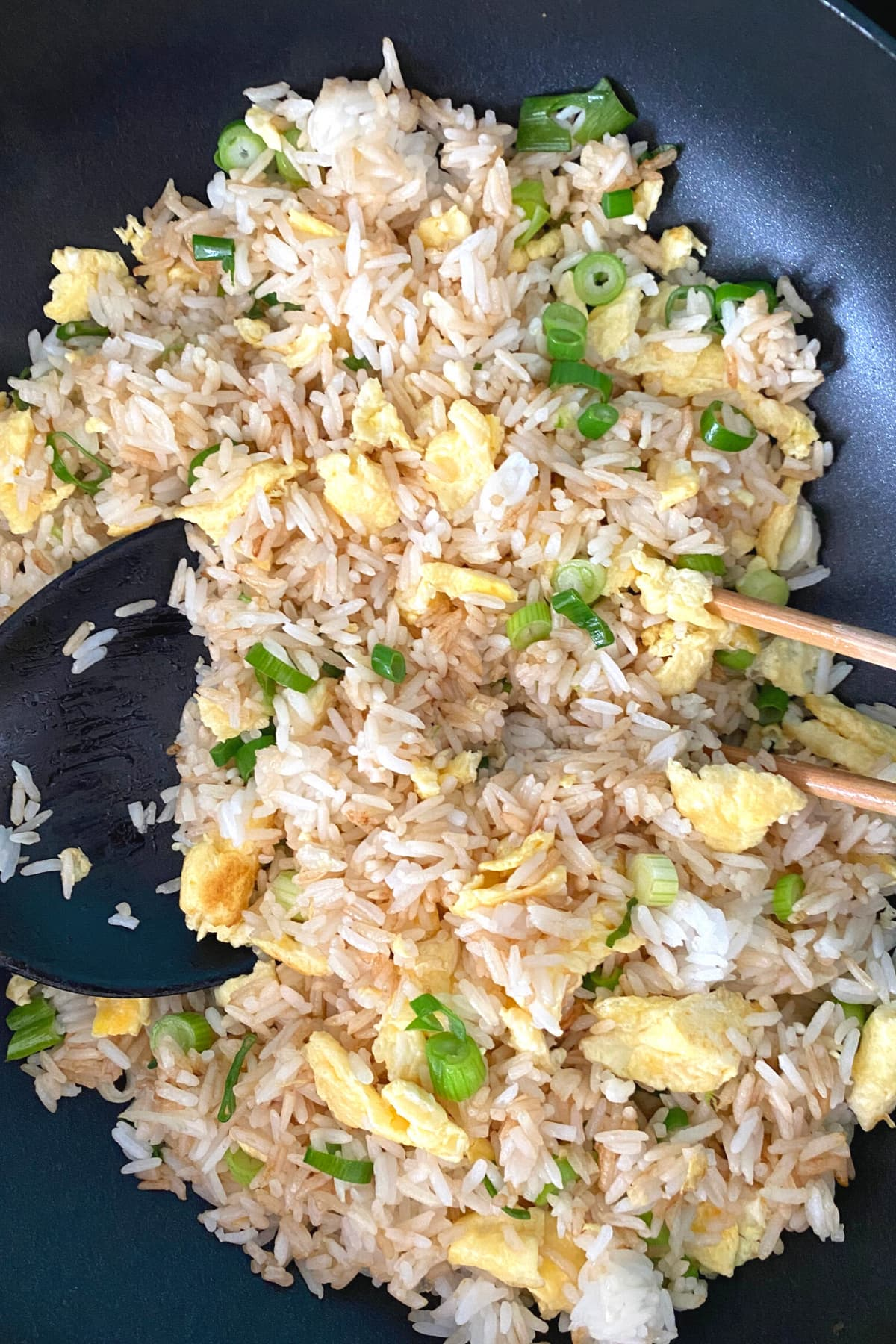 Simple Egg Fried Rice , cooked