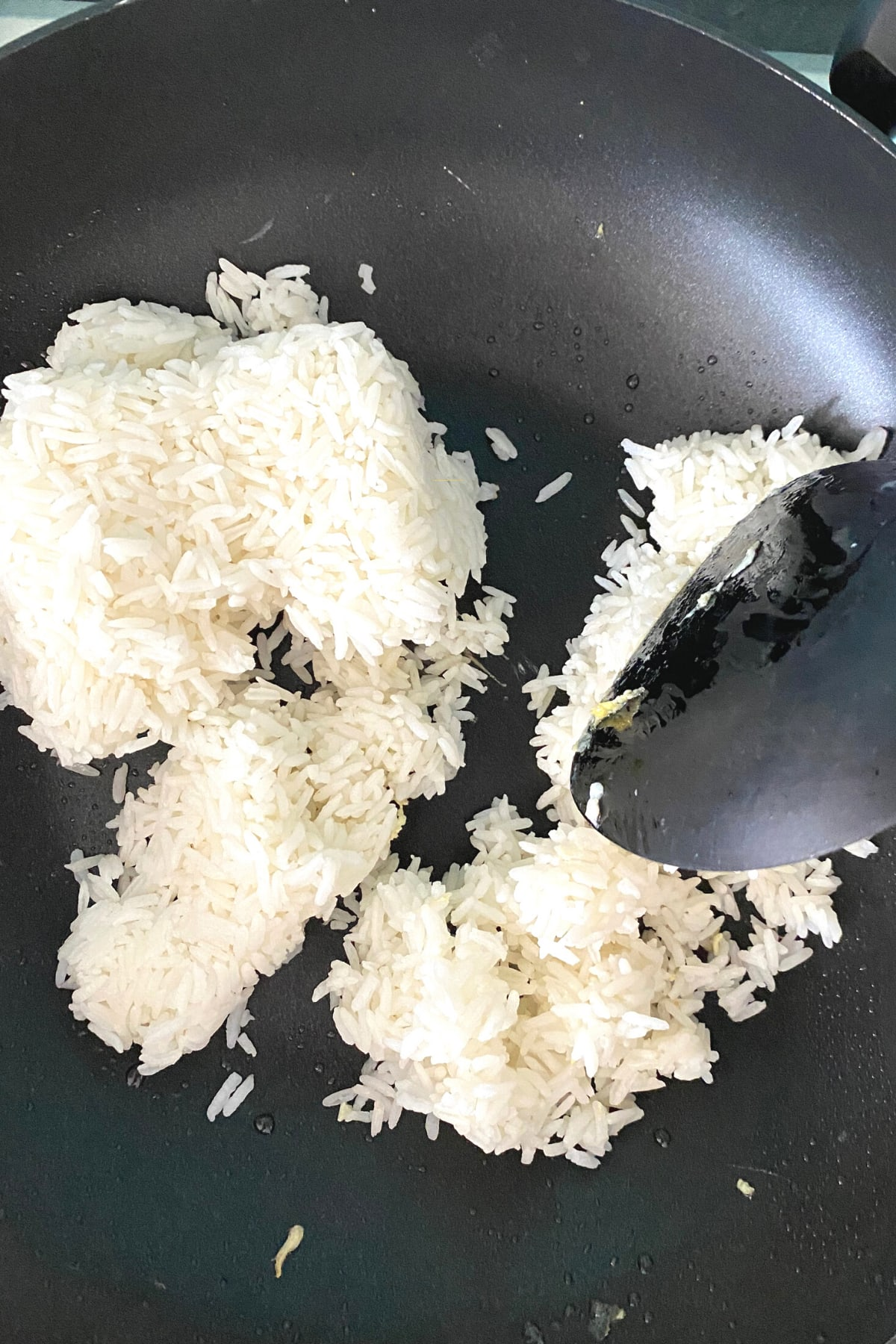Simple Egg Fried Rice , cooking rice