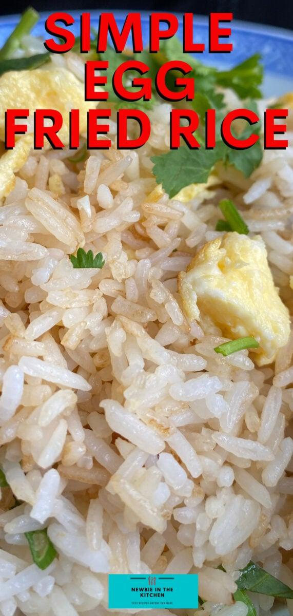 Simple Egg Fried Rice. A simple, easy recipe for how to make Chinese restaurant-style egg fried rice. Takes only minutes to make and turns out perfect every time!