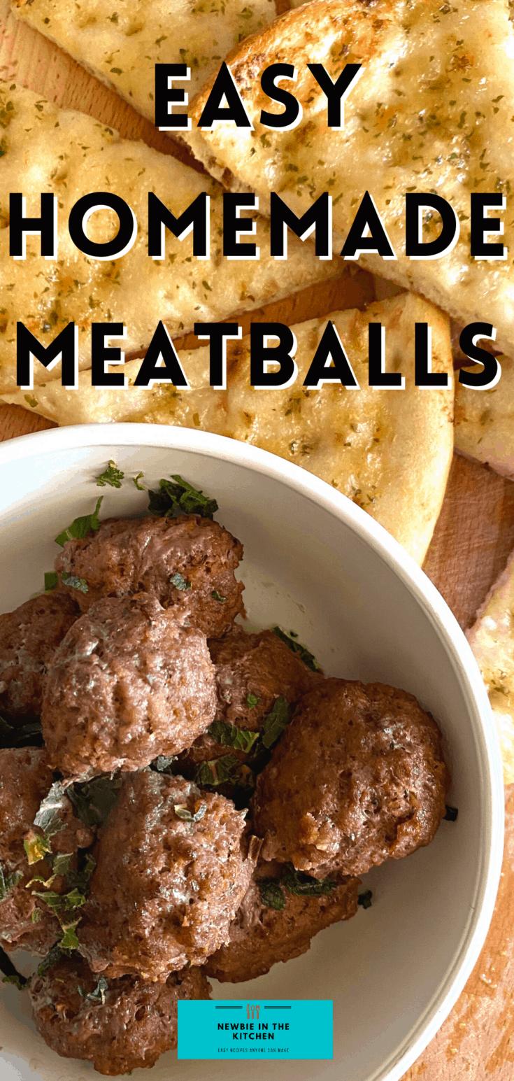 Easy Homemade MeatballsP1