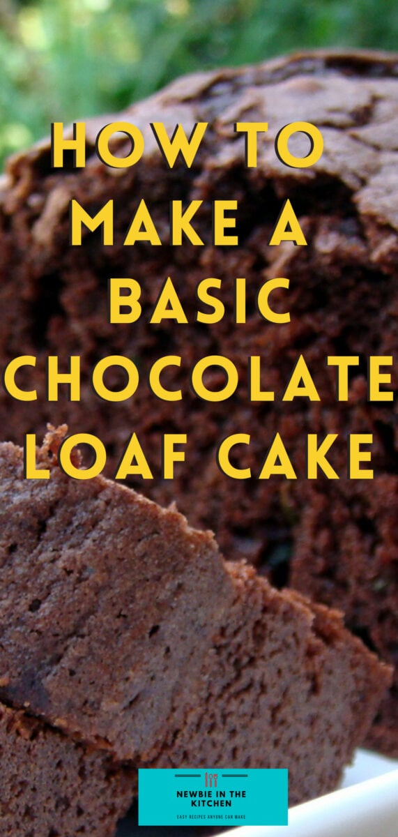 How To Make A Basic Chocolate Loaf Cake. A simple, easy chocolate loaf cake recipe is moist, rich and chocolatey. Perfect for new cooks and is a go to basic recipe