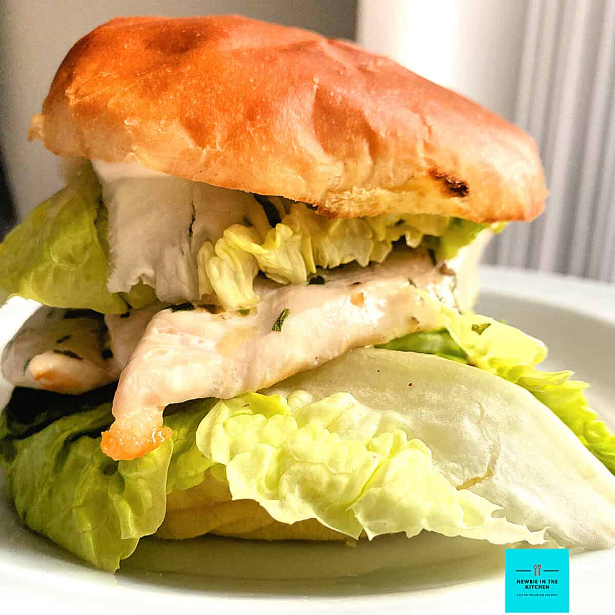 Quick Grilled Chicken Burger. Quick and easy juicy grilled chicken breast, seasoned with herbs, in a toasted brioche bun, layered with crisp lettuce. Perfect for lunch or dinner