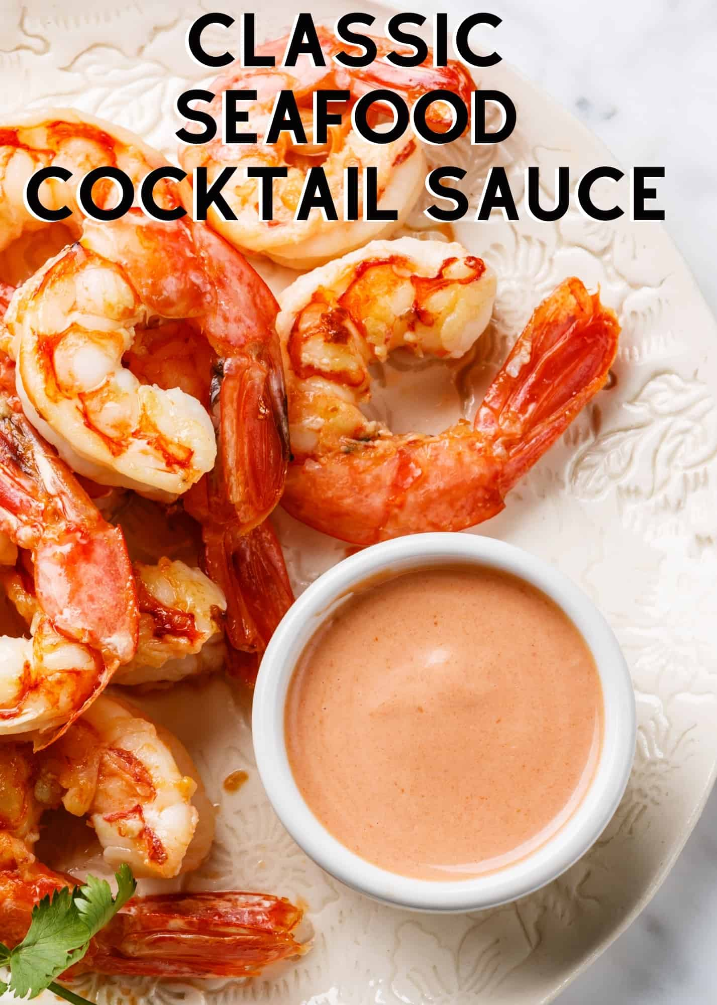 Classic Seafood Cocktail Sauce. A delicious seafood cocktail sauce, mild yet tangy, the perfect accompaniment to prawns, lobster, and ideal for serving as a dipping sauce or to add to a prawn cocktail.